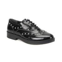 Miss F Dw18024 Siyah Kadın Maskulen Ayakkabı