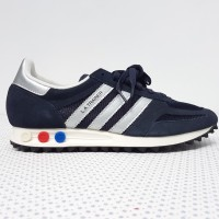 adidas LA TRAINER navy silver BY9323 BNIB without tag 8.5 UK