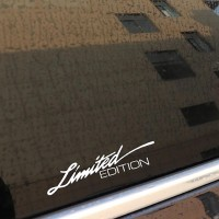Sticker Decal Cutting Vinyl Reflective Limited Edition