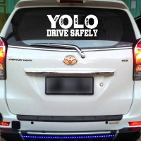 Sticker Decal Mobil Cutting Vinyl Reflektif Yolo You Only Live Once