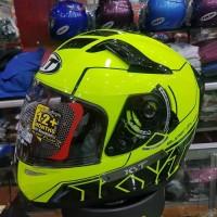 Helm KYT K2 RIDER Yellow Fluo Double Visor Kuning K2RIDER