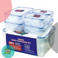 Lock & Lock Plastic Container 6P Set W/Color Box (HPL836SB)