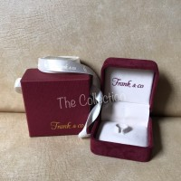 small BOX Cincin Beludru + Box Karton Frank n Co Original Engagement