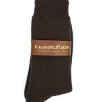 Socks Kaos Kaki Panjang Pria kerja Brown Formal Socks