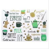 Tatakan Piring Meja Makan Anti Panas Motif Alat Makan & Minum
