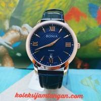 JAM TANGAN PRIA BONIA ROSSO BNR166-1583 BLUE ROSEGOLD ORIGINAL MURAH