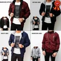 jaket pria keren Bolak Balik ( BB ) DC parasut dan fleece harga promo