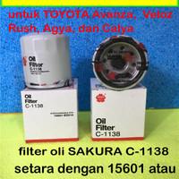 Harga filter oli mesin sakura c1138 for toyota avanza veloz rush agya | antitipu.com