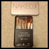 Distributor Kuas Naked 3 Make Up Brush Set Isi 12 Pcs