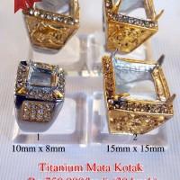 Terlaris 20 buah Ikatan / emban / Ring Cincin Titanium Mata
