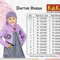 Kekesumut Baju Muslim GM 419 Gamis Katun Anak Keke Pusat grosir baju