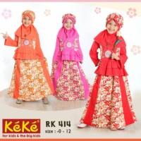 Baju Muslim RK 414 stelan rok blus Katun Anak Keke pusat grosir baju