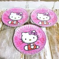 8f27b921c Piring Kue Karakter Hello Kitty isi 10/Piring Ulang Tahun/ Paper Plate
