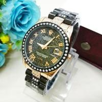 Jam Tangan Wanita / Cewe Rolex Madu Hitam Rose