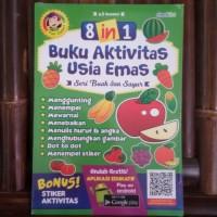 Buku Anak 8 in 1 Buku Aktivitas Usia Emas Seri Buah dan Sayur