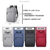 Tas Punggung Impor USB Port dan slot laptop [MILLER] / Import Backpack