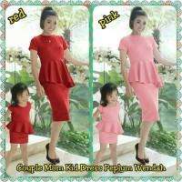 a4b4a7770c Baju Couple Mom Kids Ibu Anak Couple Mom Kid Dress Peplum Wendah