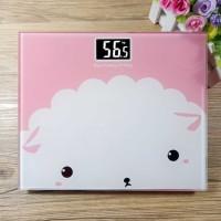Timbangan Badan Digital Desain Kartun 180Kg - BD-DZM308 pink sheep pro