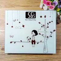 Timbangan Badan Digital Desain Kartun 180Kg - BD-DZM308 white girl ter