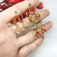 Anting Xuping Mewah Lapis Emas 18k Batu Berlian Imitasi Gold - BE154