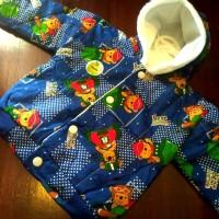 Jaket Bayi Anak Kupluk Lucu - Bear Adventure