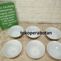 Mangkok Makan Keramik Putih Polos 16cm