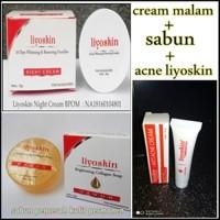 Acne & cream malam & sabun LIYOSKIN