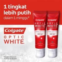 Colgate Optic White Sparkling White Toothpaste/Pasta Gigi 100gr - Twin
