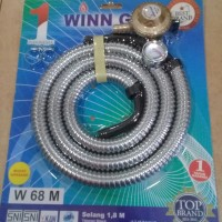 Winn Gas - Selang Gas + Regulator Meter ( 1.8 ) M