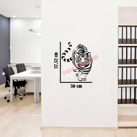 Sticker Decal Dinding Harimau