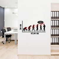 Sticker Decal Dinding Teori Evolusi Darwin Stop Following Me