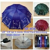 payung Lipat 3 Jumbo Besar 10 R jari motif Paris NF 59