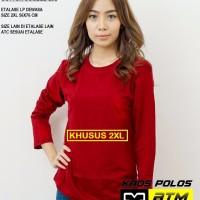 Kaos Polos Cotton Combed 20s Lengan Panjang Big Size XXL /2XL - Warna