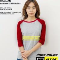 Kaos Polos Cotton Combed 20s Raglan Big Size 4XL