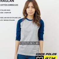 Kaos Polos Cotton Combed 20s Raglan Anak Size 2