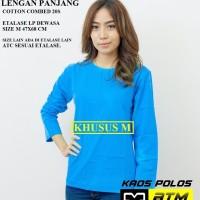 Kaos Polos Cotton Combed 20s Lengan Panjang Dewasa Size M - Warna