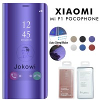 Clear View Cover XIAOMI Pocophone F1 Case Standing Flip Cover