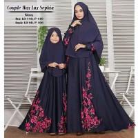 MODEL BARU COUPLE Gamis Ibu dan Anak Warna Putih Gamis Syari Gamis Mo