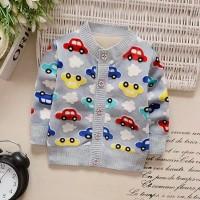 Jaket Sweater Rajut Import Anak Bayi Laki-laki Mobil