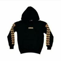 sweater hoodie pria / jaket ahha - HUSTLE premium