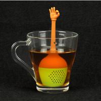 Filter saringan teh silikon tea infuser bentuk jari unik- HKN297