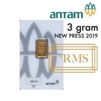 3 GR (GRAM) LOGAM MULIA/LOGAM MULIA ANTAM/LM/EMAS ANTAM BERSERTIFIKAT