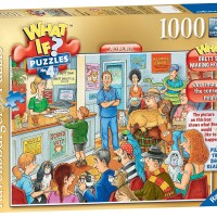 RAVENSBURGER 19349 What if? at the vets 1000pcs Jigsaw Puzzle