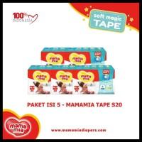 Harga hot sale paket isi 5 mamamia tape s20 popok bayi model | Pembandingharga.com