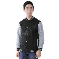 Jaket Baseball Pria Berbahan Fleece / Varsity / Stok Banyak / Jacket