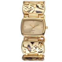 Jam tangan fashion wanita rantai warna emas