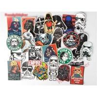 Stiker dinding kamar laptop motor pintu mobil empire star wars
