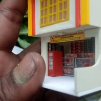 Harga miniatur ruko grosir toko sembako skala ho 1 87 mang | antitipu.com