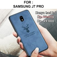 Case Samsung J7 Pro 2017 softcase casing cover jeans tpu leather DEER