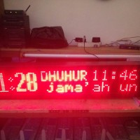 Jadwal Sholat Digital Android Bluetooth - MERAH 100x20cm